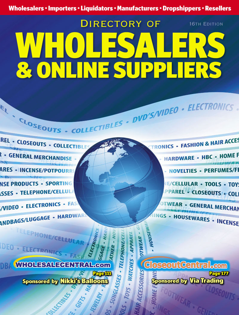 Directory Of Wholesalers, Importers, And Liquidators Cover